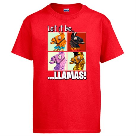 Camiseta ilustración parodia Let It Be Llamas