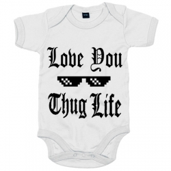 61753d4435 ... Body bebé I Love You Thug Life ...