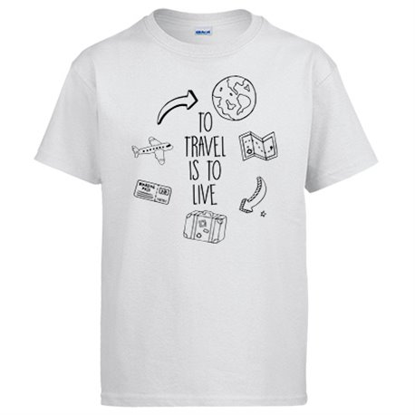 Camiseta frase viajeros viajes To Travel Is To Live