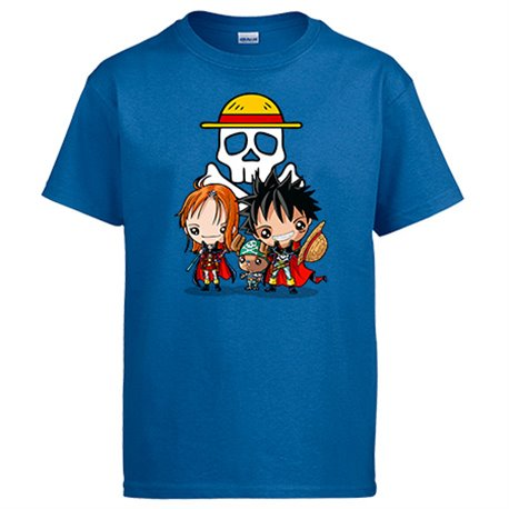 Camiseta Chibi Kawaii Crossover One Piece Capitan Harlock parodia