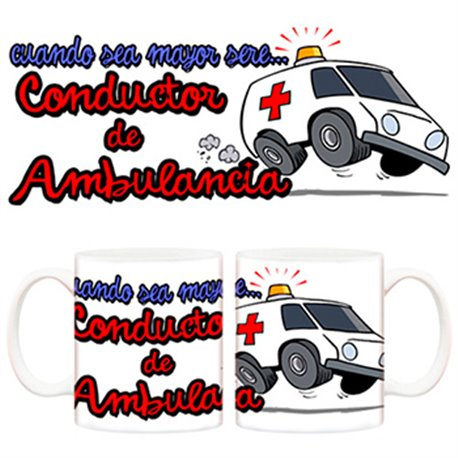 Taza Cuando sea mayor seré conductor de ambulancia