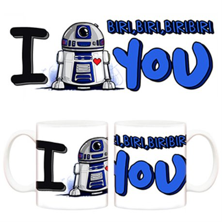 Taza de amor Star Wars, R2 D2. I love you