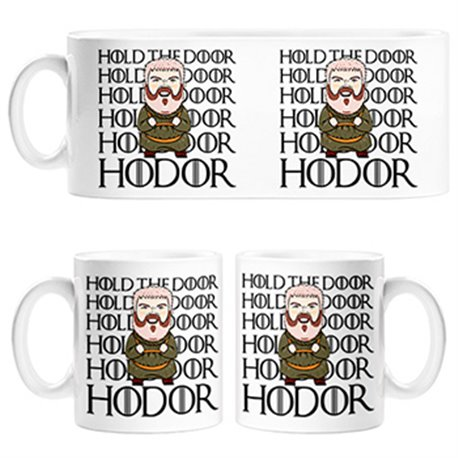 Taza Game Of Thrones Hodor frase Hold The Door