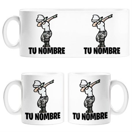 Taza Fortnite pose Dab personalizable con nombre