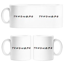 Taza para fan de Friends personalizable con nombre
