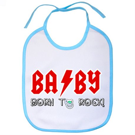 Babero Baby born to rock