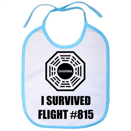 Babero I Survived Flight 815 logo Dharma