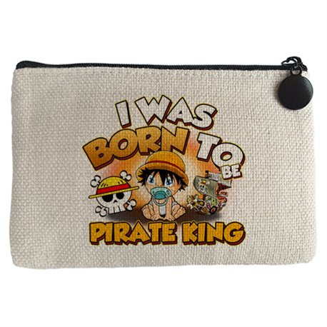 Monedero I was born to be pirate Baby Monkey D Luffy king parodia One Piece