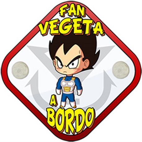 Placa bebé a bordo parodia fan de Vegeta a bordo