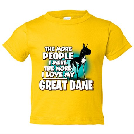Camiseta niño I love my Great Dane Black raza perro
