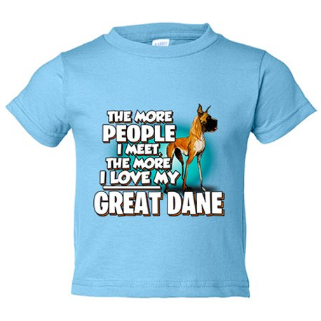 Camiseta niño I love my Great Dane raza perro