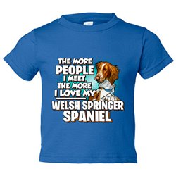 Camiseta niño I love my Welsh Springer Spaniel raza perro
