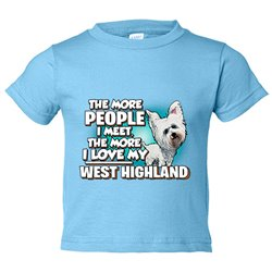 Camiseta niño I love my West Highland raza perro