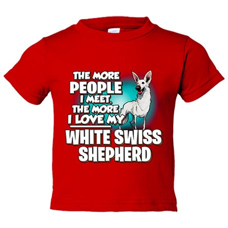 Camiseta niño I love my White Swiss Shepherd raza perro