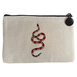 Monedero serpiente coral