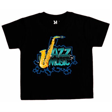 Camiseta niño Jazz Music