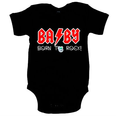 Body bebé Born to Rock bebé nacido para rockear