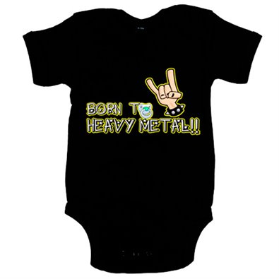 Body bebé Born to Heavy Metal bebé nacido para el heavy metal