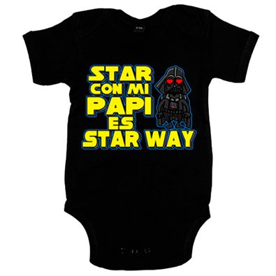 Body bebé Star Wars estar con mi papi es Star Way
