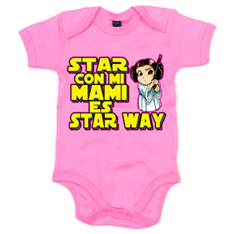 Body bebé estar con mi mami es Star Way Princesa Leia