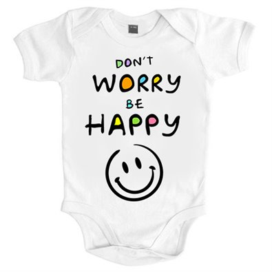 Body bebé Don`t worry be Happy