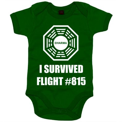Body Bebé Lost Perdidos I Survived Flight 815 logo Dharma