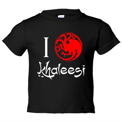 Camiseta niño Game Of Thrones Juego de Tronos I Love Khaleesi