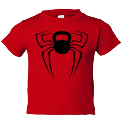 Camiseta niño Crossfit kettlebell Spiderman