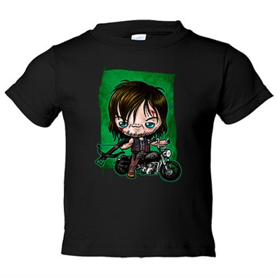 Camiseta niño The Walking Dead Daryl Dixon Kawaii
