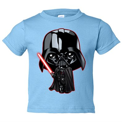 Camiseta niño parodia de Star Wars Darth Vader Kawaii