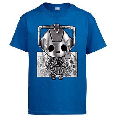 Camiseta Doctor Who Cybermen Kawaii