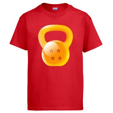 Camiseta Crossfit kettlebell Dragon Ball Bola de Dragón