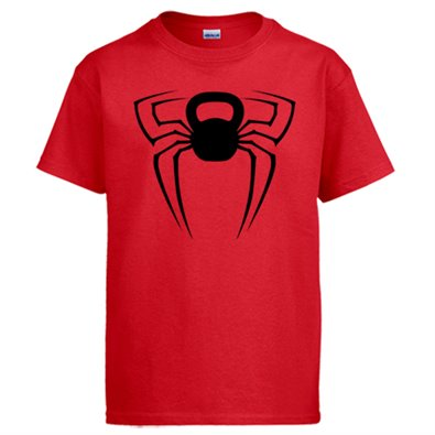 Camiseta Crossfit kettlebell Spiderman