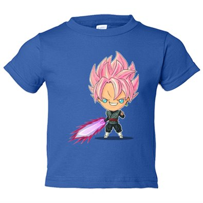 Camiseta niño Chibi Kawaii Black Goku Rose parodia de Dragon Ball