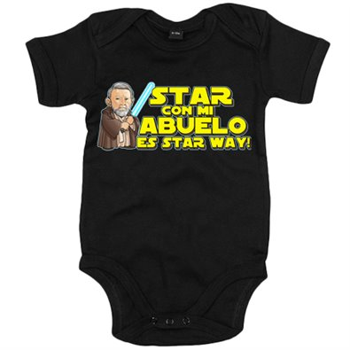 Body bebé Star Wars Star con mi abuelo es Star Way Obi Wan Kenobi