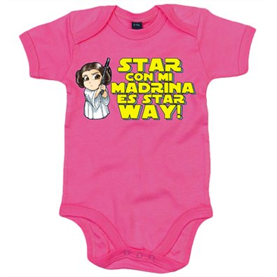 Body bebé Star Wars Star con mi madrina es Star Way Princesa Leia