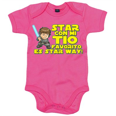 Body bebé Star con mi tio favorito es Star Way parodia Luke Skywalker