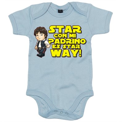 Body bebé Star Wars Star con mi padrino es Star Way Han Solo