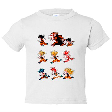 Camiseta niño Dragon Ball Son Goku transformaciones