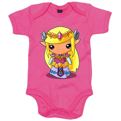 Body bebé Chibi Kawaii Princesa Zelda parodia de Legend of Zelda para gamers