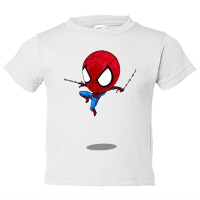 Camiseta niño Chibi Kawaii Spiderman parodia