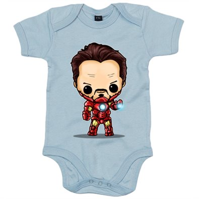 Body bebé Chibi Kawaii Iron Man parodia
