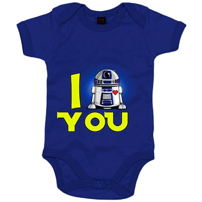 Body bebé I Love You parodia R2D2 androide