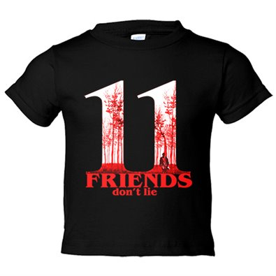 Camiseta niño Friends Dont Lie Eleven póster árboles Once