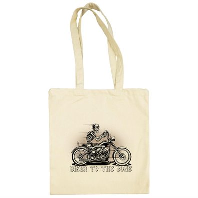 Bolsa de tela para moteros Biker To The Bone