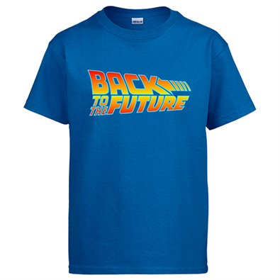 Camiseta Back to the future Regreso al futuro - color Azul, talla M