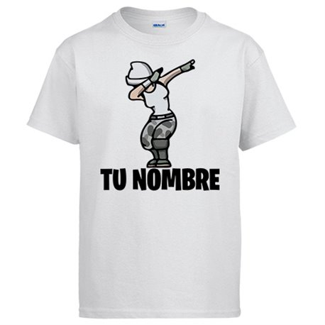 Camiseta Fortnite pose Dab personalizable con nombre