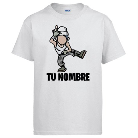 Camiseta Fortnite pose Take The L baile Loser personalizable con nombre