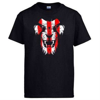 Camiseta Athletic león cara colores Bilbao - color Negro,talla L