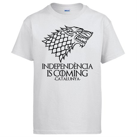 Camiseta Independència Is Coming In Catalunya Game Of Thrones